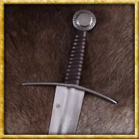 Einhandschwert mit Stahlknauf für Schaukampf